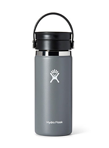 Hydro Flask Light Grey Insulated Flex Sip Coffee bottle for men