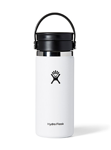 Hydro Flask White Insulated Flex Sip Coffee bottle for women