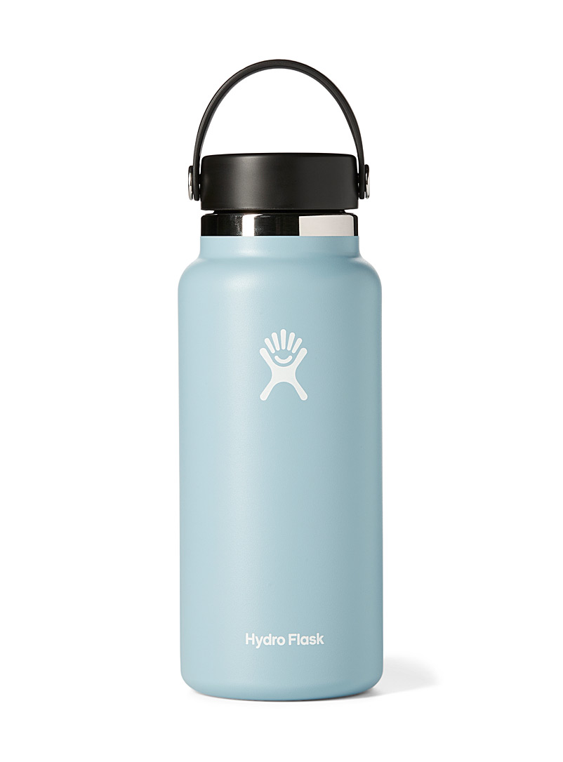Hydro Flask Baby Blue Wide mouth insulated bottle for women