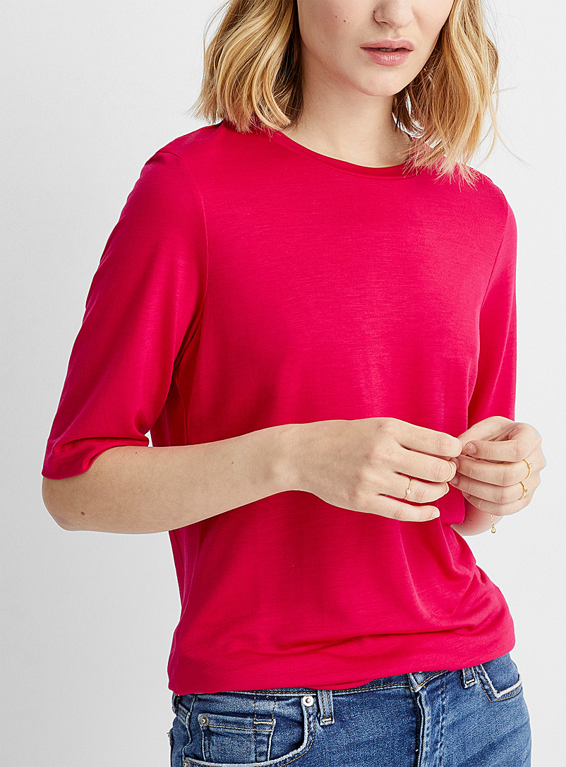 Eco-friendly lyocell short-sleeve tee