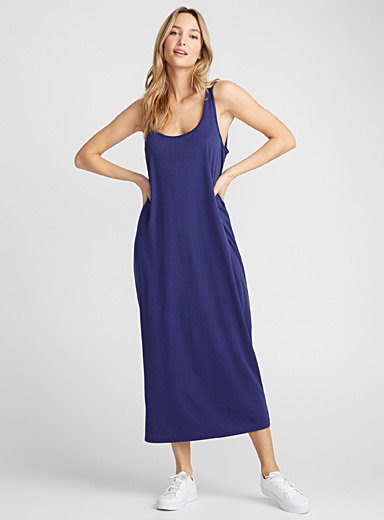 Cotton-lyocell maxi tank dress