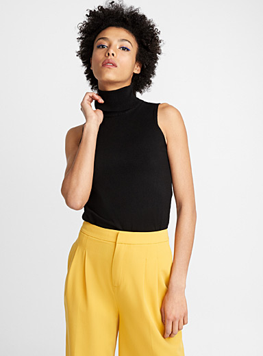 Viscose turtleneck cami