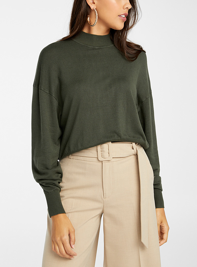Loose bubble-sleeve sweater