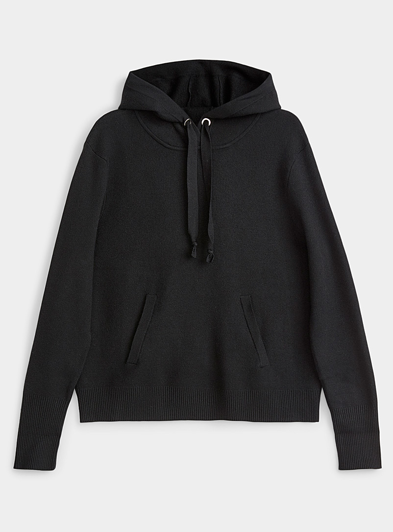 Contemporaine Black Hoodie sweater for women