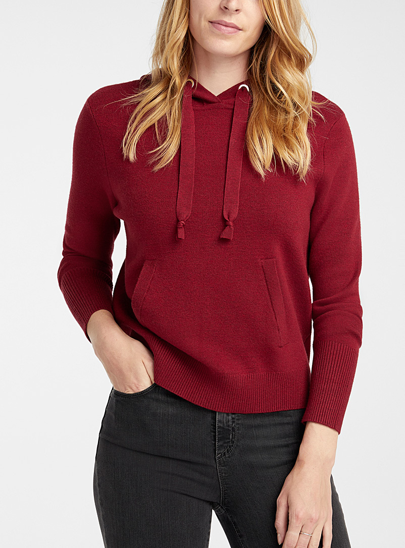 Contemporaine Ruby Red Hoodie sweater for women