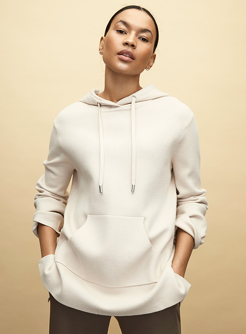 Contemporaine Grey Long hoodie sweater for women