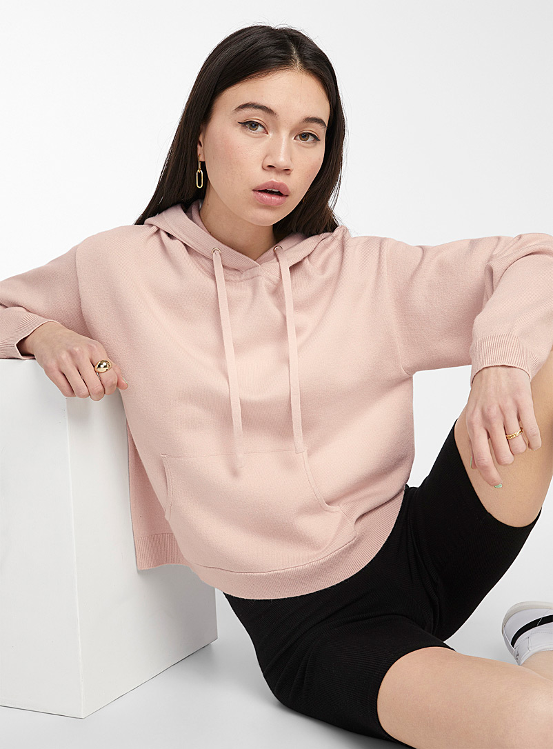 Twik Dusky Pink Basic kanga sweater for women