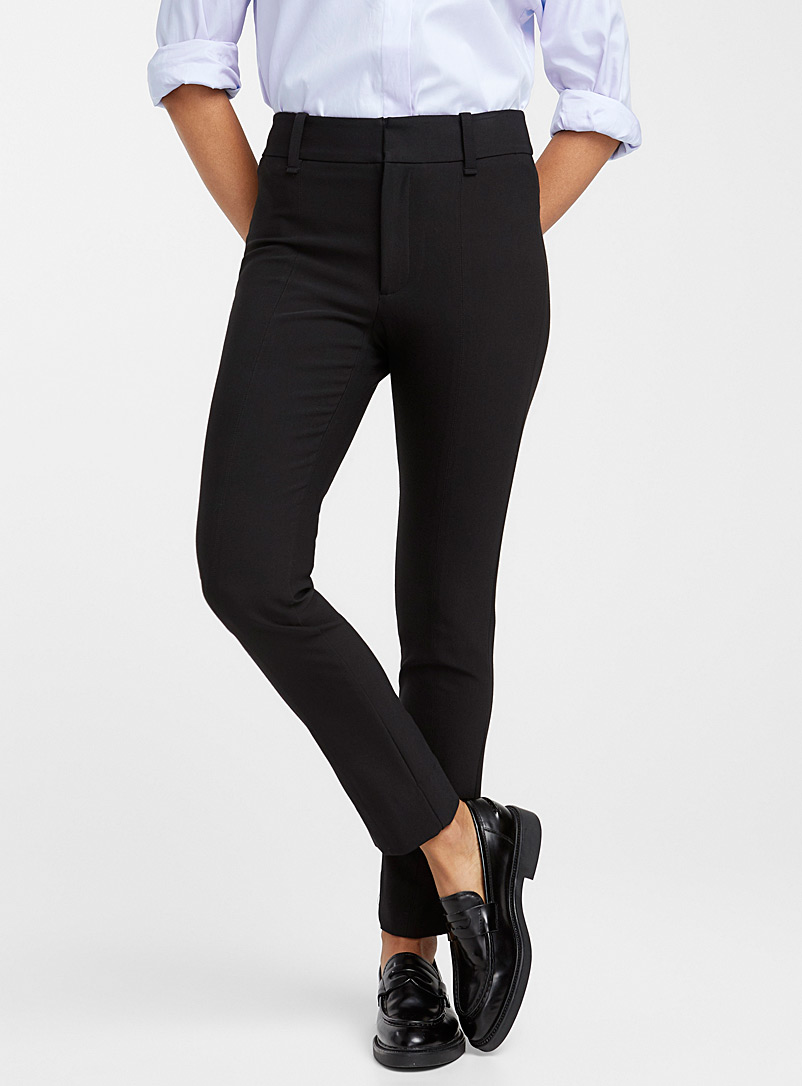 High-rise cigarette pant - Collections - Black
