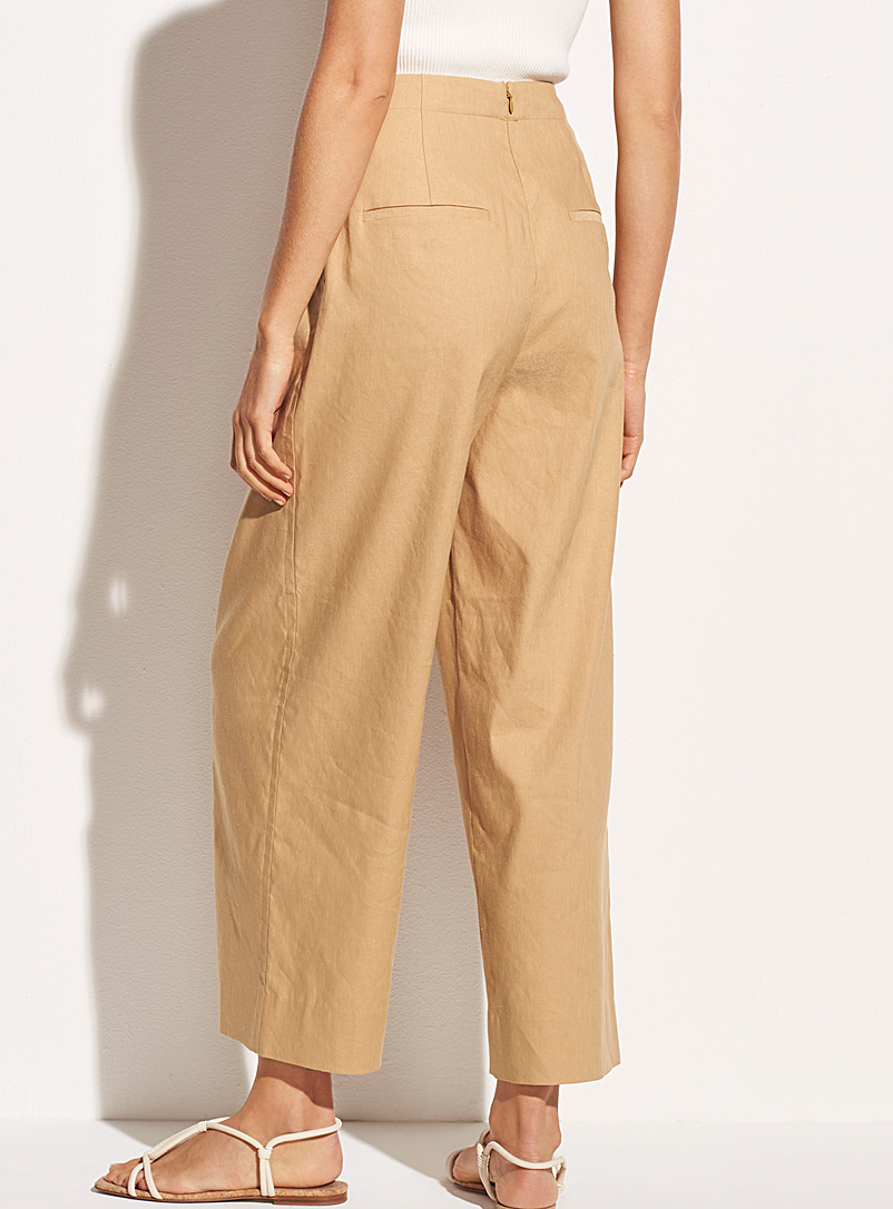 Vince Honey Caramel wide-leg cropped pant for women