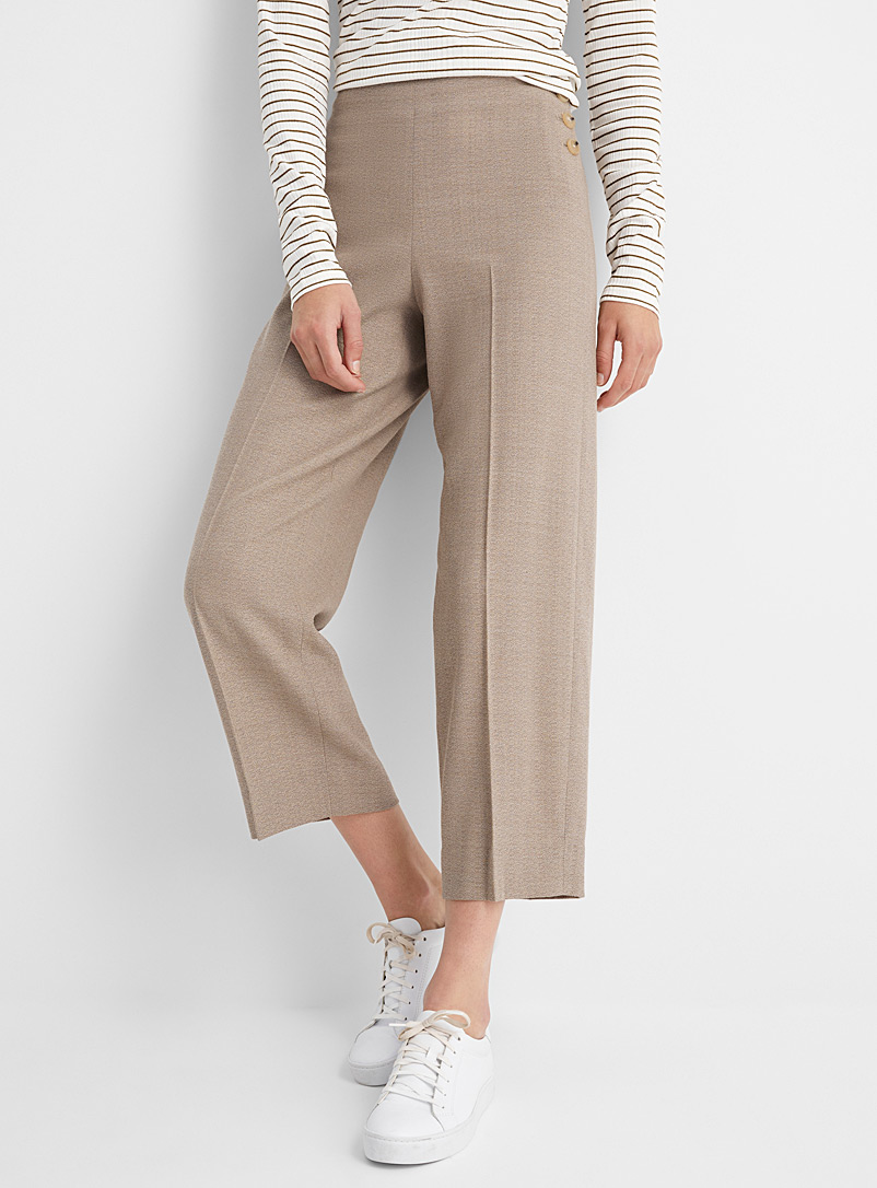 Vince Sand Side-button cropped pant for women