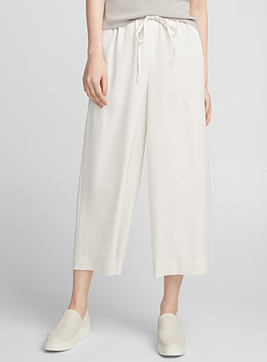 Fluid satin culottes