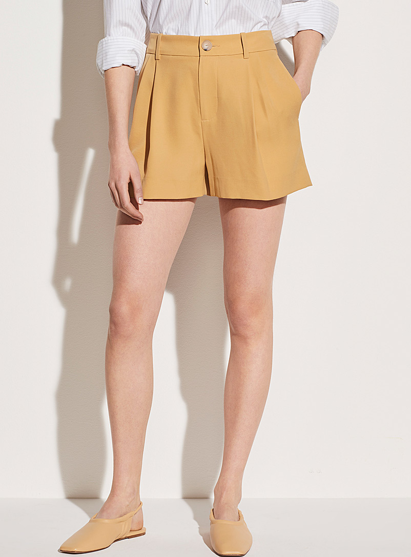Vince Medium Yellow Honey high-rise short for women