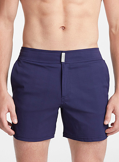 Solid check swim short