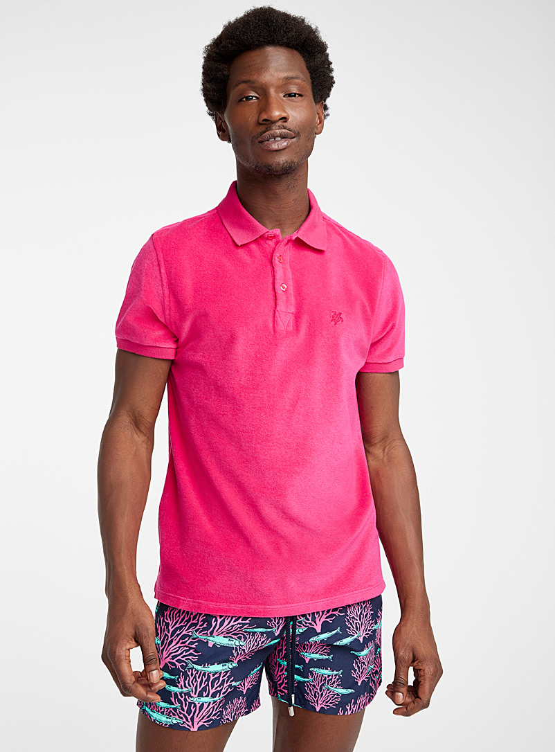 Vilebrequin Medium Pink Pacific cherry-red polo for men