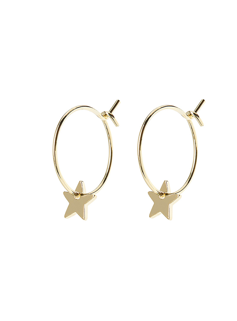 Simons Assorted Mini-star hoops for women