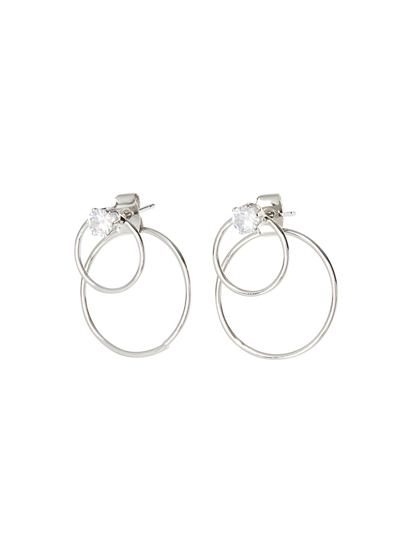 Simons Assorted Double-sided circle earrings for women