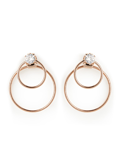 Double-sided circle earrings