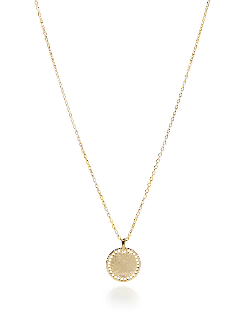 Simons Assorted Openwork disc pendant necklace for women