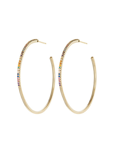 Multicolour sparkle hoops