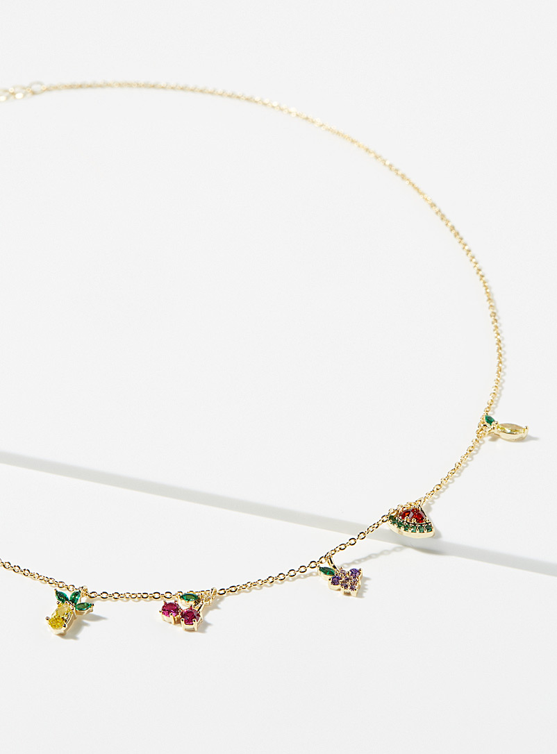 Simons Assorted Fruity flavour necklace for women