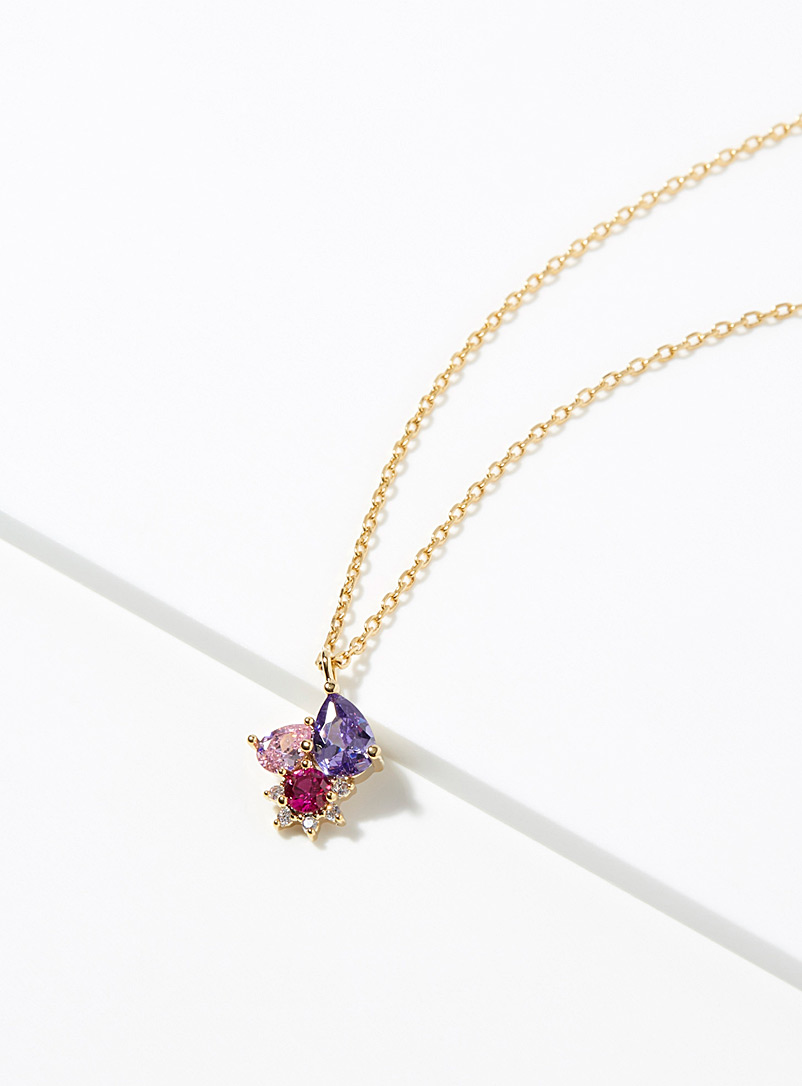 Simons Assorted pink  Star pendant necklace for women
