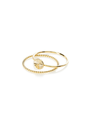 Delicate gold rings <br>Set of 2