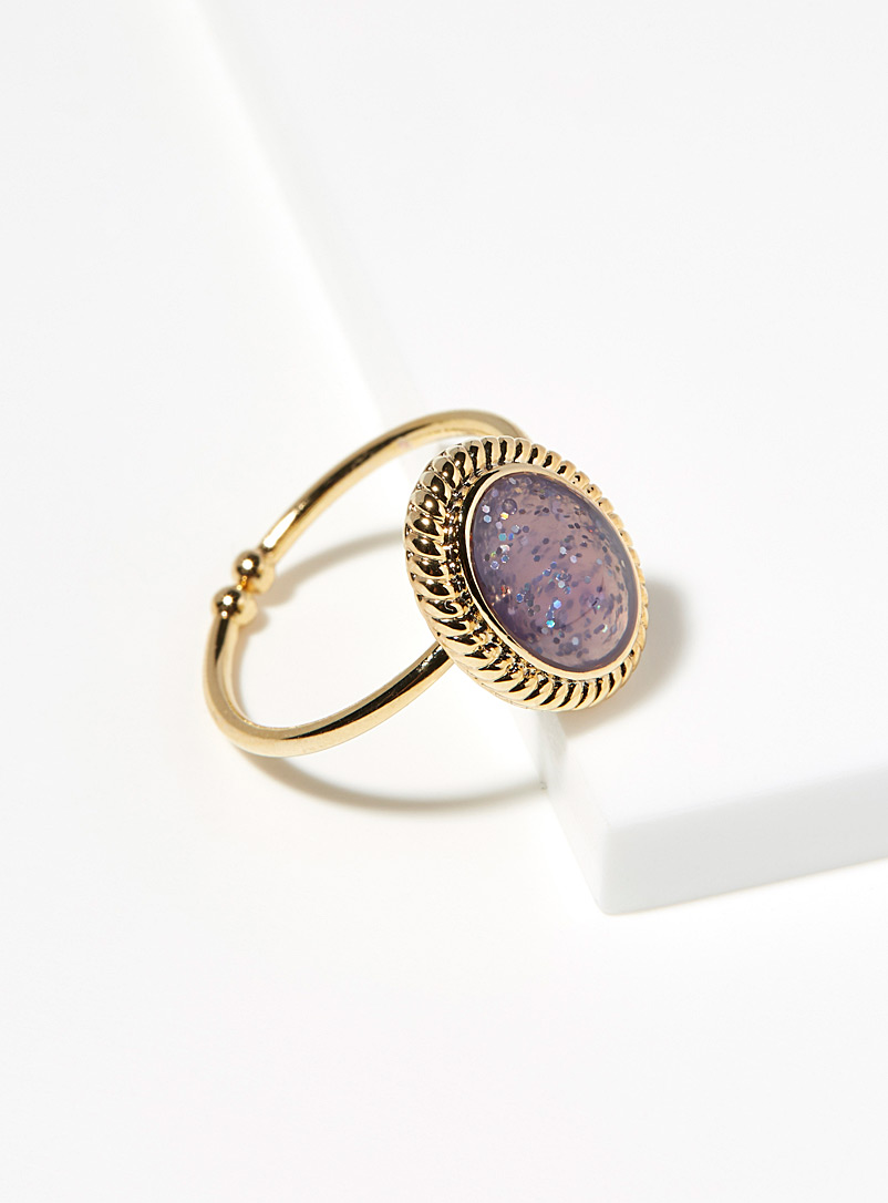 Purple stone ring - Rings - Assorted