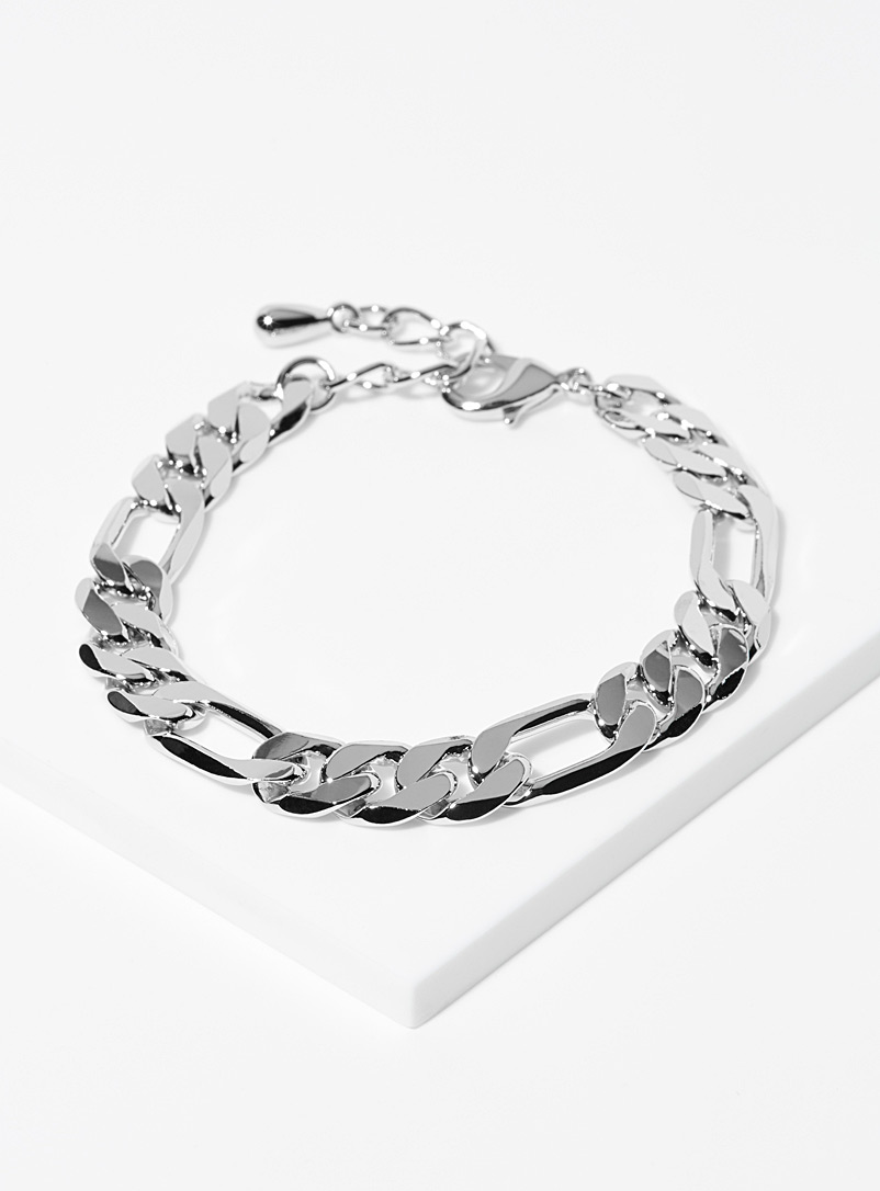 Simons Silver Figaro maxi-chain bracelet for women