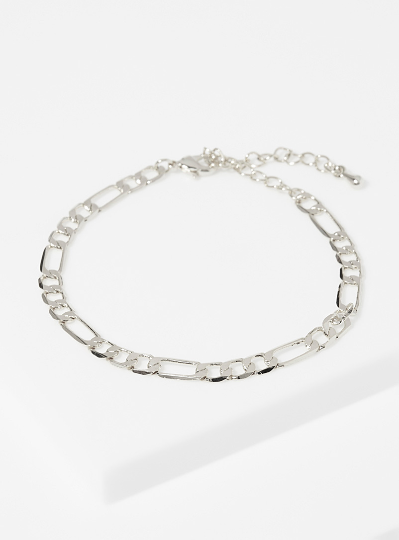 Simons Silver Infinity chain bracelet for women