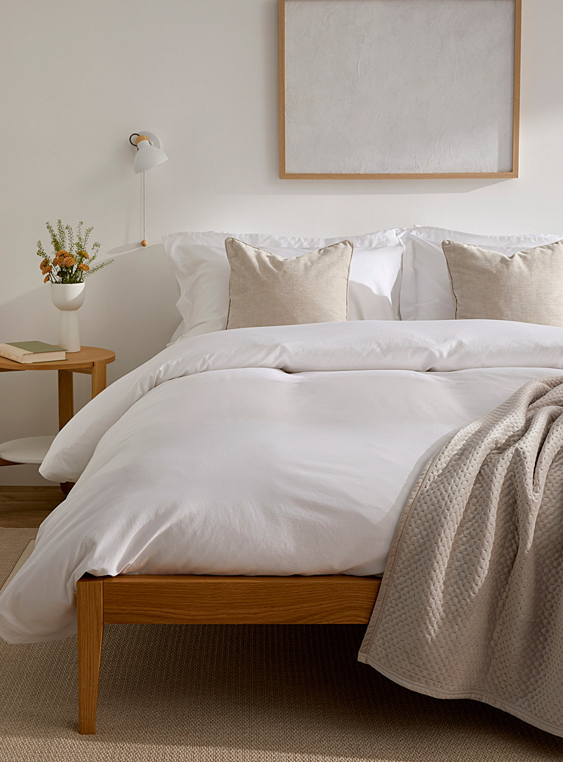 Egyptian cotton and bamboo duvet cover set  330 thread count - Duvet Covers - White