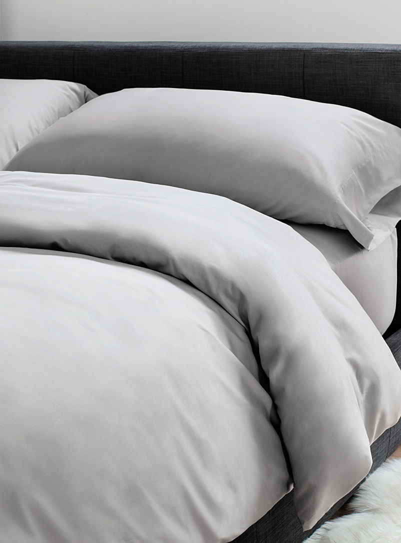 Le Germain Hôtels Light Grey Egyptian cotton and bamboo duvet cover set  330 thread count