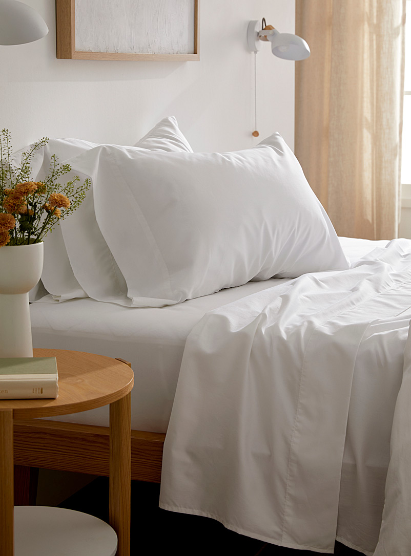 Le Germain Hôtels White Egyptian cotton and bamboo rayon 330-thread-count sheet set