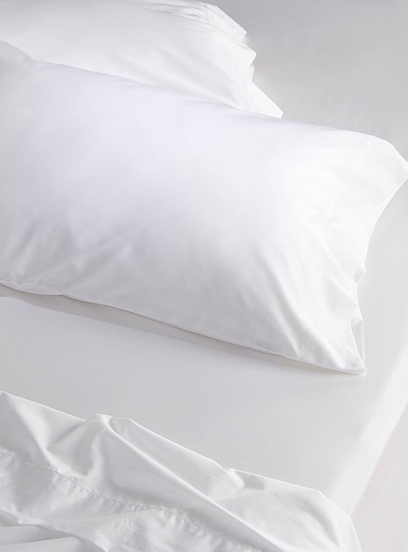 Egyptian cotton and bamboo pillowcase set, 330 thread count - Pillowcases - White