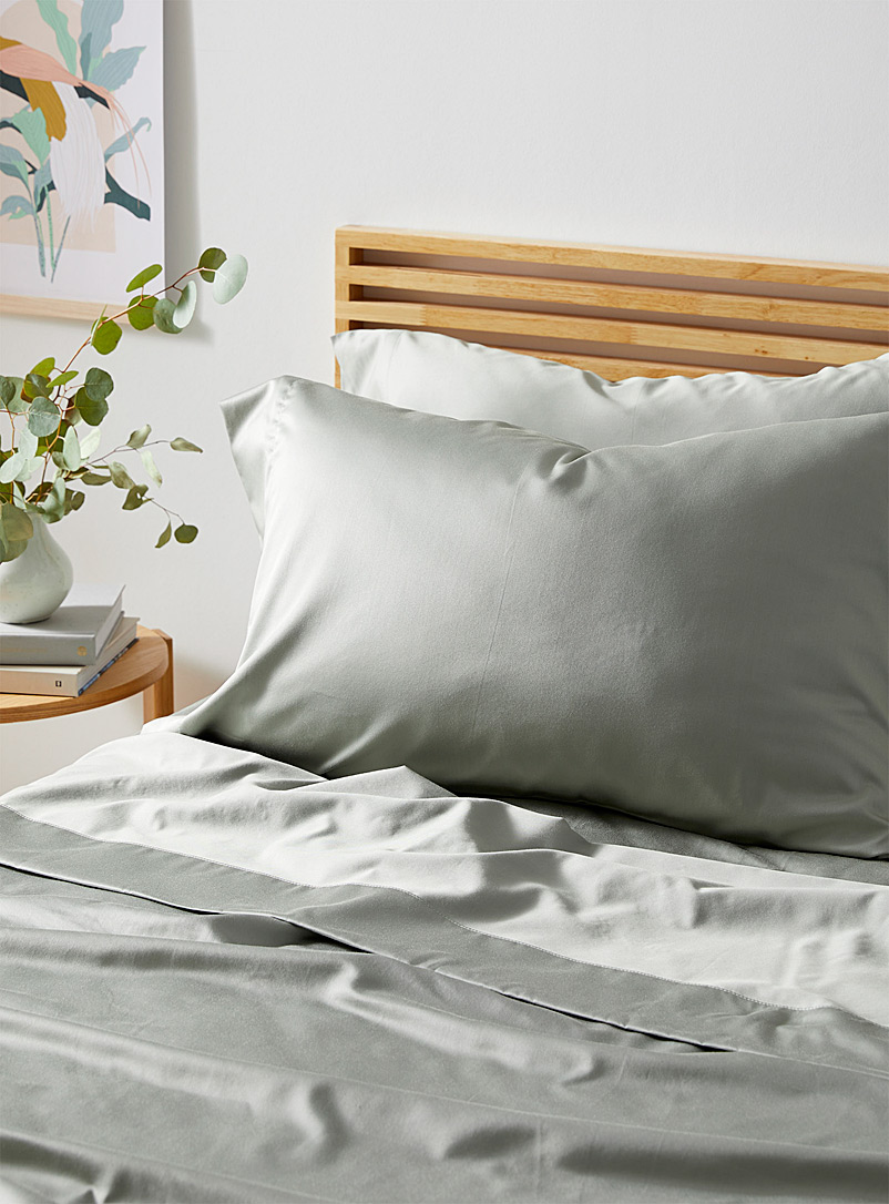 Simons Maison Green Birch rayon 400-thread-count sheet set Fits mattresses up to 16 in.