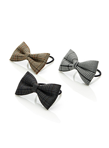 Elegant check elastics  Set of 3