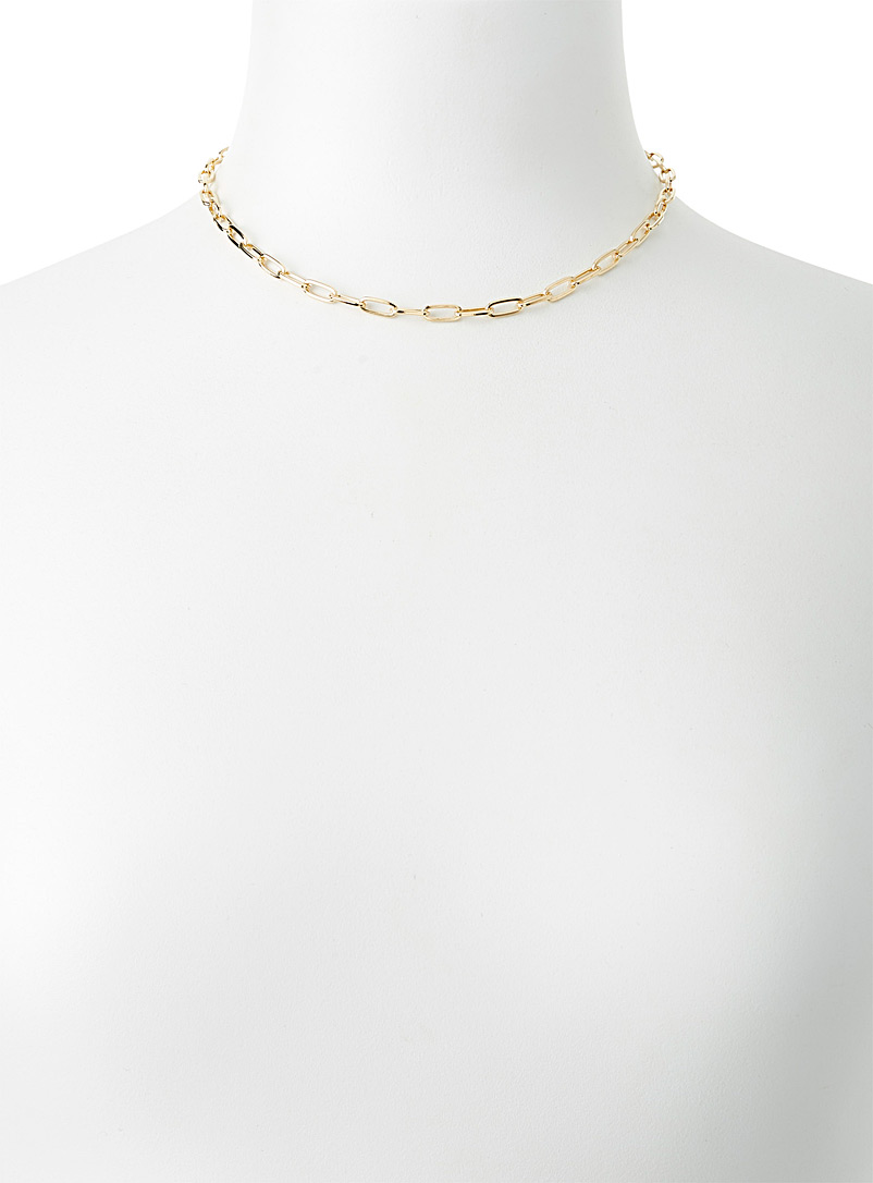 Simons Charcoal Paperclip link necklace for women