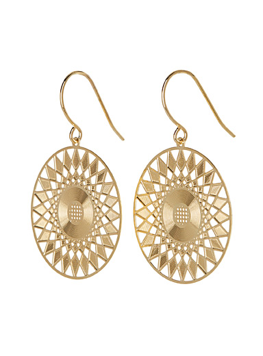 Faux-lace earrings