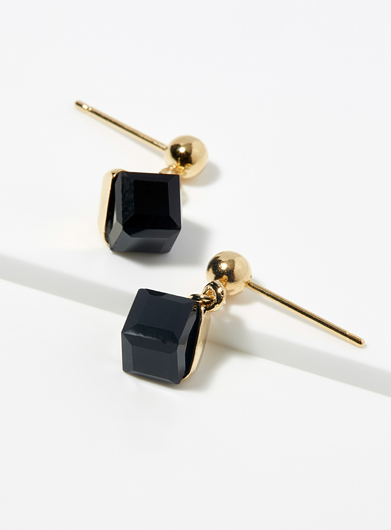 Cube pendant earrings - Earrings - Assorted black