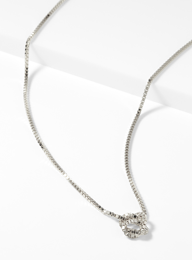 Knotted chain necklace - Necklaces - Silver
