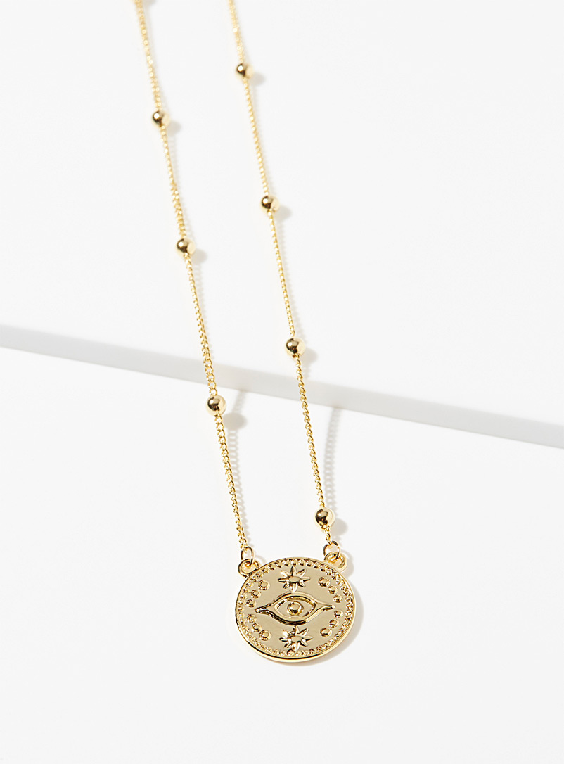 Simons Assorted Third eye necklace for women