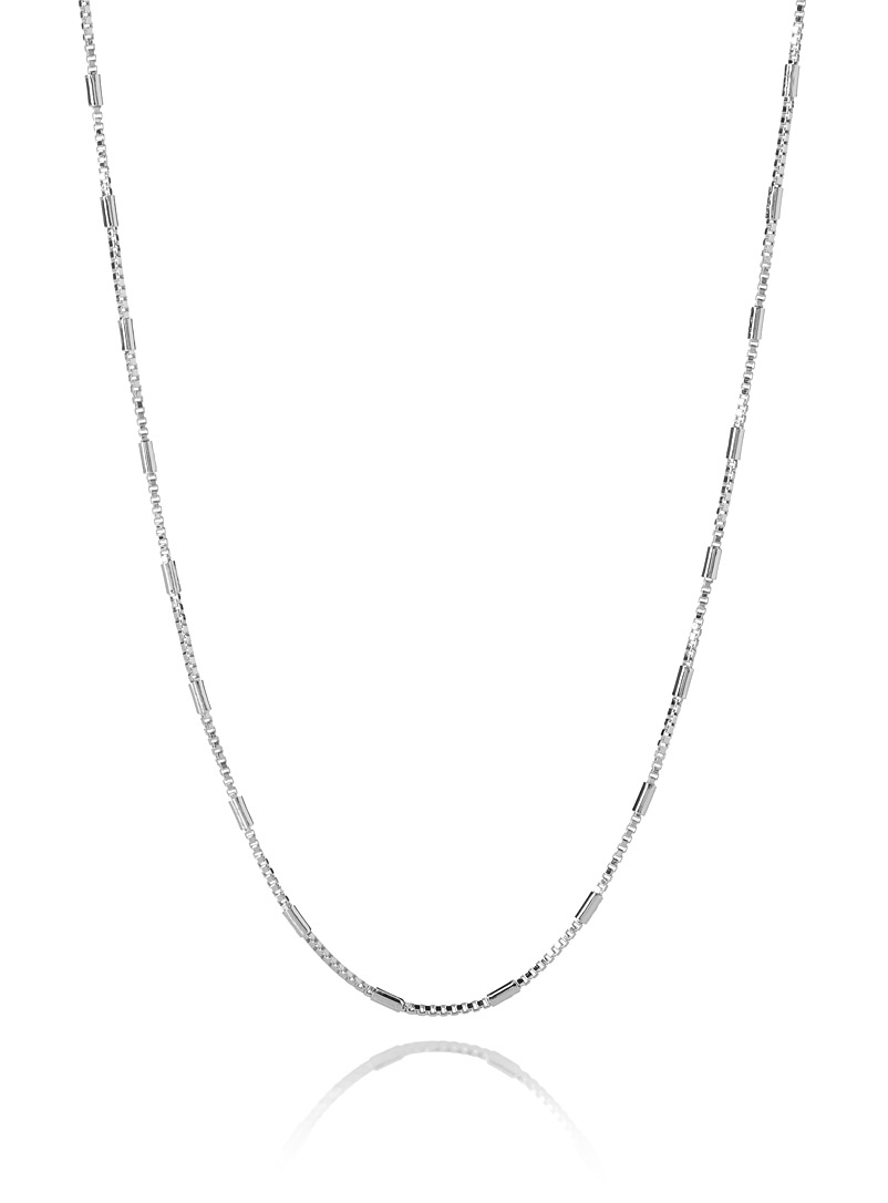 Alternating link necklace - Necklaces - Silver