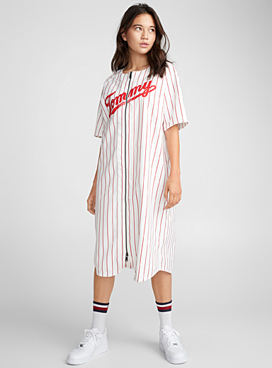 Embroidered logo baseball dress