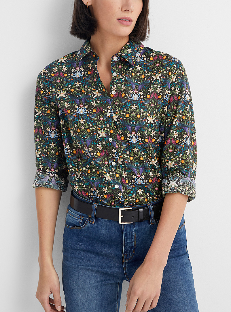 Contemporaine Patterned Black Liberty floral shirt for women