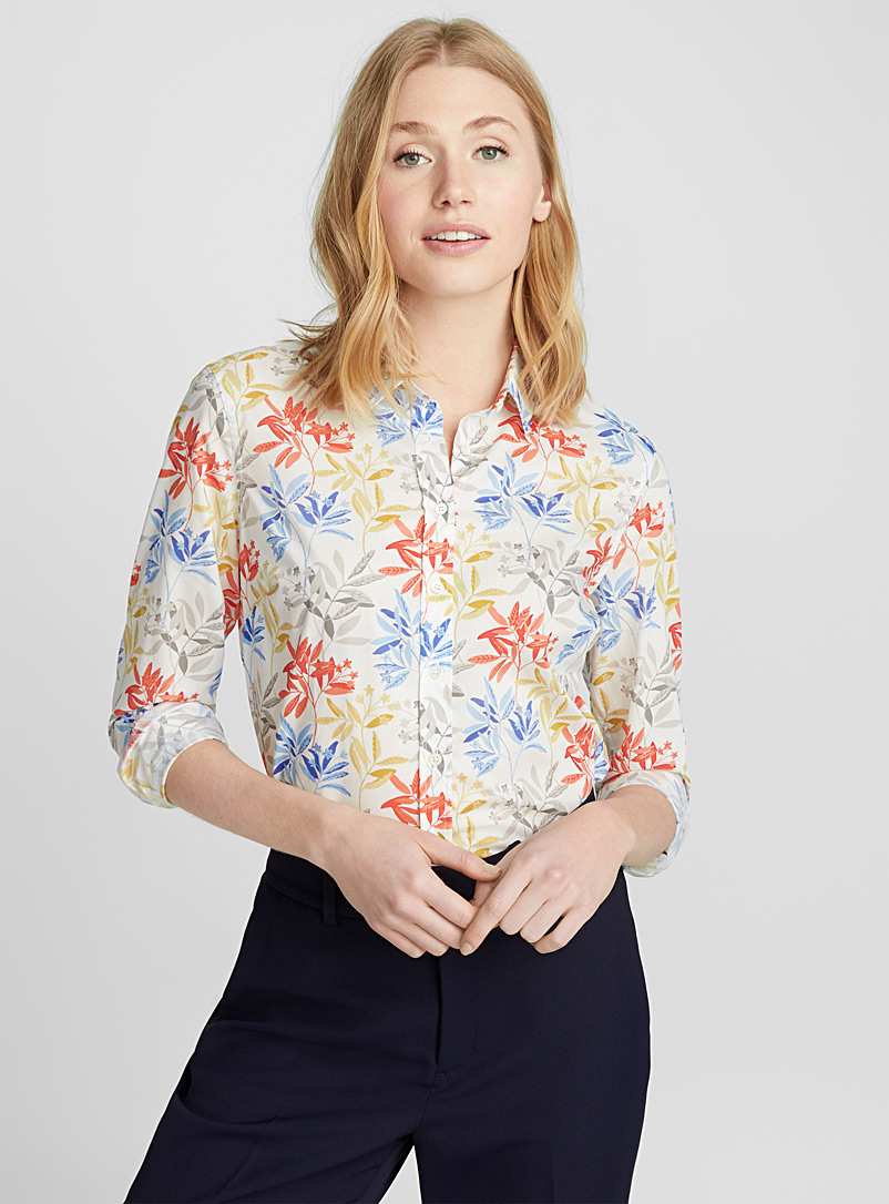 Liberty floral shirt - Shirts - Patterned Blue