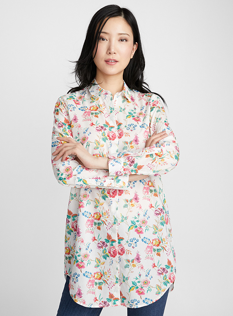 Liberty floral tunic - Shirts - Patterned White