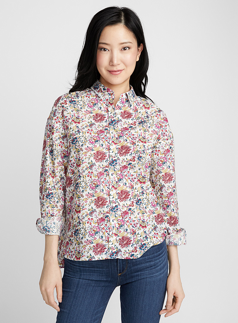 Liberty floral linen blouse - Shirts - Patterned Ecru