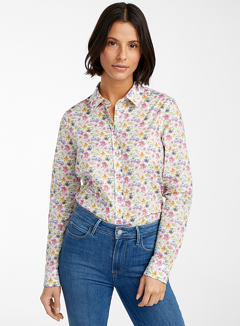 Contemporaine Patterned Crimson Liberty floral shirt for women