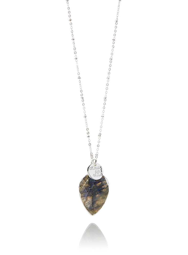 Faceted teardrop necklace - Necklaces