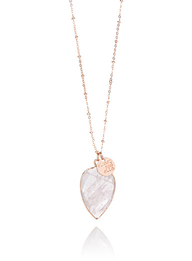 Faceted teardrop necklace