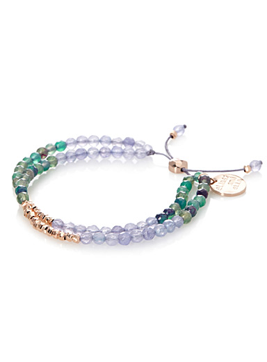 Coloured faceted stone bracelet